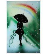Девушка под радугой