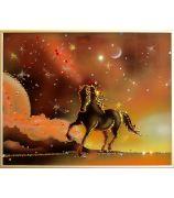 Конь на закате