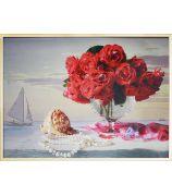 Натюрморт с красными розами