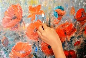 Картины цветов маслом