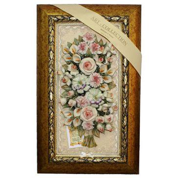 Панно из керамики «Букет цветов», Италия