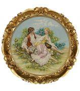 Картина из фарфора «На лугу»