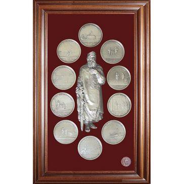 Панно-коллаж «Медали на княжение Великого князя Владимира»