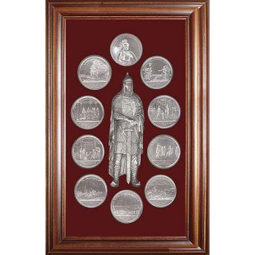 Панно-коллаж «Медали на княжение Великого князя Игоря»