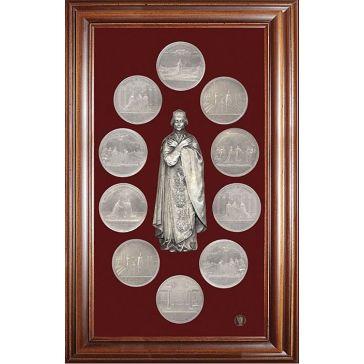 Панно-коллаж «Медали на княжение Великой княгини Ольги»