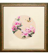 Картина «Цветущая магнолия с бабочкой»