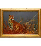 Картина «Леопард в камышах»