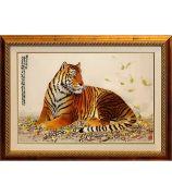 Картина «Тигр на траве»