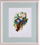 Картина «Пара птичек на цветущей ветке»