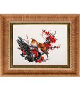 Картина «Птички на цветущей веточке»