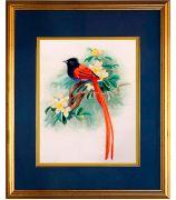 Картина «Птичка на цветущей веточке»