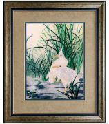 Картина «Две цапли в камышах»