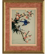 Картина «Две сойки на цветущей веточке»