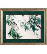 Картина «Ласточка в зарослях бамбука»