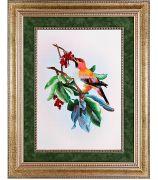 Картина «Птичка на ветке калины»