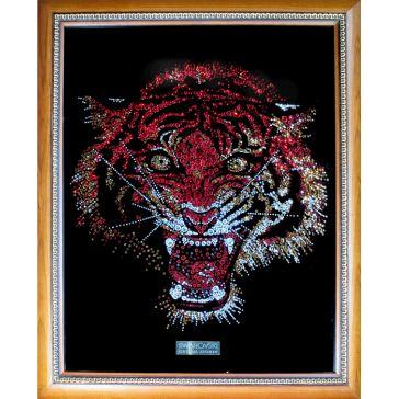 Картина Сваровски «Тигр», 30х37 см