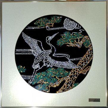 Картина с кристаллами Сваровски «Цапля»