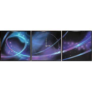Модульная картина с часами «Космос»