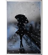Девушка под дождём