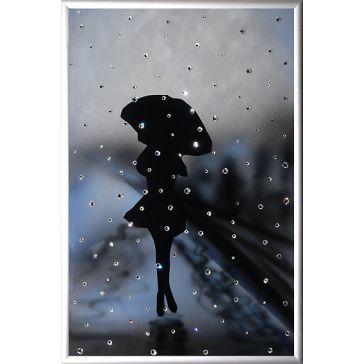 Картина «Девушка под дождём»