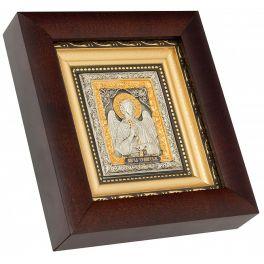 Посеребренная икона «Ангел Хранитель», ручная работа