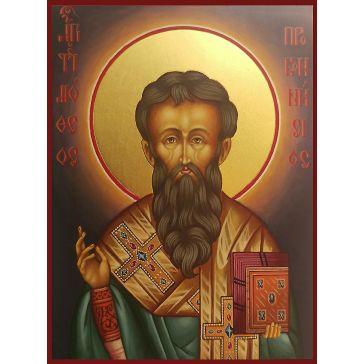 Живописная икона Чудотворца «Тимофея Проконесского» на золоте