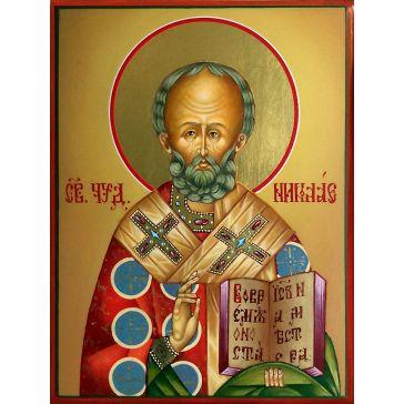 Живописная икона «Николай Чудотворец» на доске