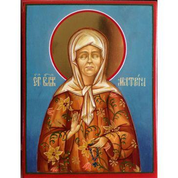 Живописная икона «Блаженная старица Матрона Московская» на доске