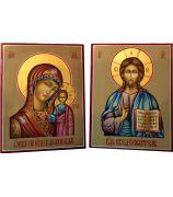 Божия Матерь «Казанская» и «Господь Вседержитель»