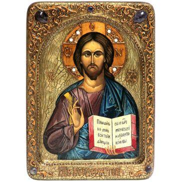 Живописная икона «Господь Вседержитель» на доске