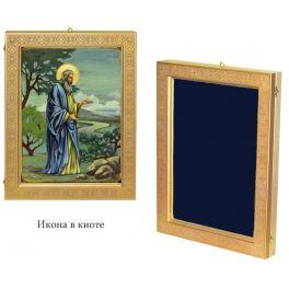 Живописная икона «Святой праотец Адам» на кипарисовой доске в подарочной шкатулке