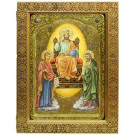 Живописная икона «Царь Царем» с номерным свидетельством, в киоте из берёзы