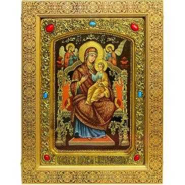 Живописная икона Божией Матери «Всецарица» (Пантанасса) на доске из кипариса