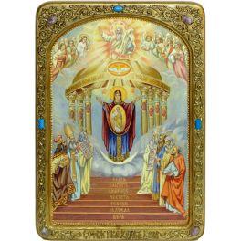 Живописная икона Богородицы «София - Премудрость Божия (Киевская)» в подарочном киоте и с номерным свидетельством