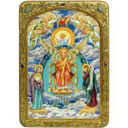 Живописная икона Богородицы «София – Премудрость Божия (Новгородская)» в подарочном киоте и с номерным свидетельством