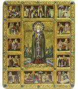 Преподобный Сергий Радонежский чудотворец с житийными сценами