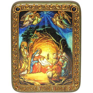 Подарочная икона «Рождество Господа Бога и Спаса нашего Иисуса Христа»