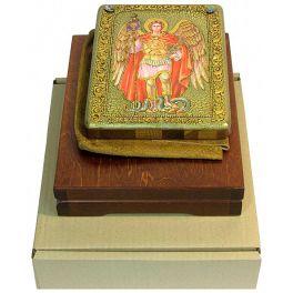 Подарочная икона «Архангел Михаил» на доске из мореного дуба
