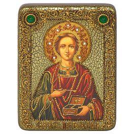 Подарочная икона «Святой Великомученик м Целитель Пантелеймон» на доске