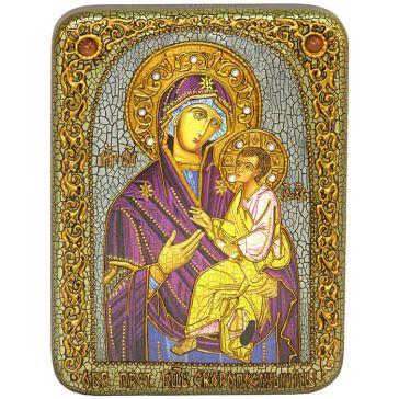 Икона Пресвятой Богородицы «Скоропослушница» в подарочной шкатулке, со свидетельством