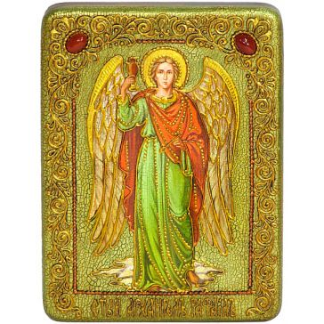 Подарочная икона в шкатулке «Архангел Рафаил», размер 15х20 см