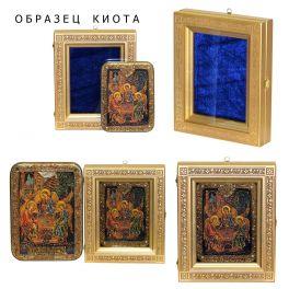 Подарочная икона «Святые царственные страстотерпцы» на морёном дубе