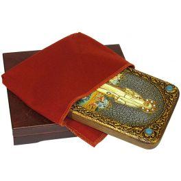 Подарочная икона «Святая преподобномученица великая княгиня Елисавета» на доске из морёного дуба