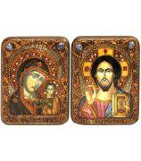 «Казанская икона Божией Матери» и «Господь Вседержитель»