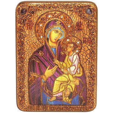 Икона Божией Матери «Скоропослушница», со свидетельством в деревянной шкатулке, Россия