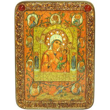 Икона Божией Матери «Тихвинская Хлебенная (Запечная)», 21х29 см, в шкатулке