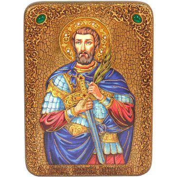 Подарочная икона на морёном дубе «Святой Мученик Анатолий Никомидийский»