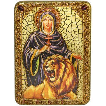 Подарочная икона «Святая мученица Дария Римская» на морёном дубе