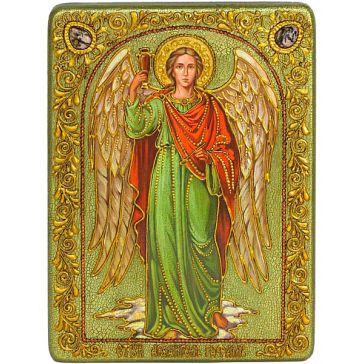 Подарочная икона с номерным свидетельством «Архангел Рафаил», 21х29 см
