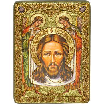 Икона «Спас Нерукотворный» на дубовой доске размером 21х29 см